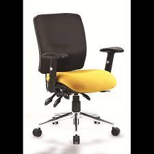 <b>Luxury Office Chair</b> Yellow/<b>black</b> med Ergonomic chiropractic ...