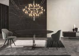 table glass marble oak van dyck minotti