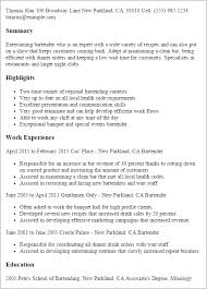 professional bartender templates to showcase your talent    resume templates  bartender