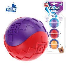 <b>GiGwi Игрушка</b> для собак <b>Ball</b> Три мяча с пищалкой (диаметр 5 см ...