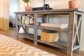 onyx distressed finish kitchen cabinets furniture vintage look rustic wood console table with rattan basket st