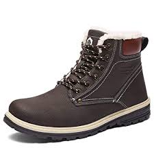 <b>Men's Shoes Men</b> Lace Up Fur Lined Snow Warm Winter <b>Shoe</b> ...