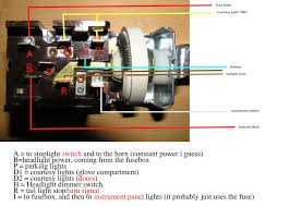 anyone care to validate my mustang headlight switch wiring its missing the courtesy light which i suppose is no big deal anyway here is how i believe it should be wired