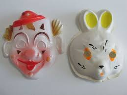 Vintage USSR <b>Toy</b> Mask <b>Carnival</b> New Year Clown and Bunny ...