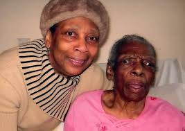 Pauline Price (left) with her mother Lucinda Thomas - 2113575228
