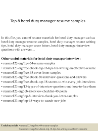 top8hoteldutymanagerresumesamples 150408081404 conversion gate01 thumbnail 4 jpg cb 1428498887