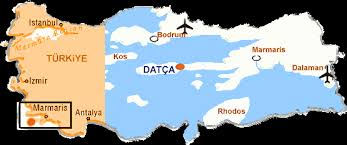 Image result for datca knidos haritasi