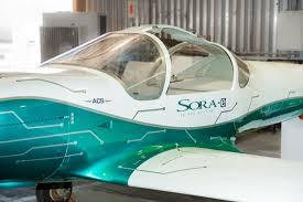 Resultado de imagem para imagem o voo inaugural da Sora-e, primeira aeronave elétrica tripulad
