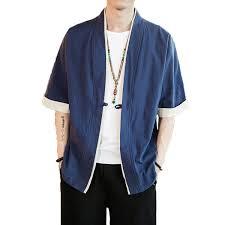 <b>ICPANS</b> Men Cotton Linen Jacket <b>China Style</b> Kongfu Coat Male ...