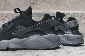 nike huarache grey and black black grey nike air