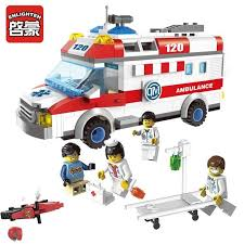 328pcs City Ambulance Series Building Blocks Toys | Products ...
