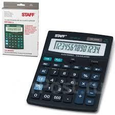 <b>Калькулятор настольный Staff</b> STF-888-14 (200х150мм. 14 ...
