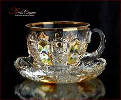 Купить <b>чайные пары</b> из хрусталя Чехия!