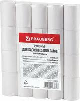 «<b>Чековая лента</b> из термобумаги <b>Brauberg</b> 57мм (диаметр 37мм ...
