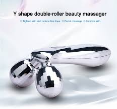 Kakusan microcurrent <b>3d</b> face roller massager silver facial massage ...