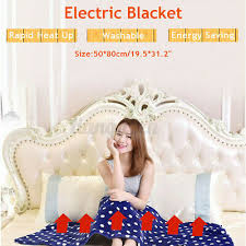 Electric <b>Heated Shawl Throw</b> Rug <b>Blanket</b> Washable Winter ...