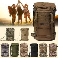 OURBAG - <b>50L</b> Waterproof <b>Outdoor Military Tactical</b> Pack Sports ...