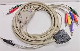 <b>Mortara Eli</b> 100/200 <b>Compatible</b> 10L Banana Plug Cable- Item ...