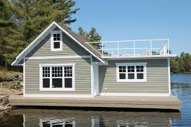Taylor Docks IncorporatedPitured above a custom boat house on a permanent steel pile dock