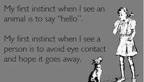 My first instinct when I see an animal is to say hello. My first ... via Relatably.com