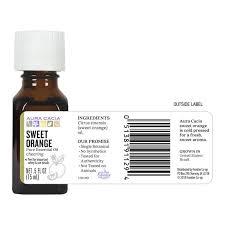 Aura Cacia <b>Sweet</b> Orange <b>Essential Oil</b> 0.5 fl. oz. - Aura Cacia