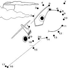 Printable Coloring Pages: Aeroplane Dot to Dot WorksheetsAeroplane Dot to Dot Worksheets
