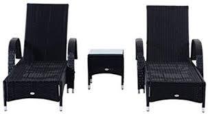Luxurious <b>3 Piece</b> Rattan <b>Garden Sun</b> Lounger Set - Complete With ...