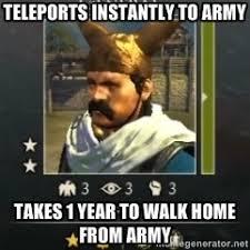Total War: Rome II Barbarian general | Meme Generator via Relatably.com