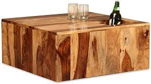 Festnight <b>Coffee Table</b> Solid Sheesham Wood <b>70x70x30 cm</b> ...