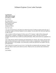 Letter Example  general resume cover letter examples  cover letter     Cover Letter Software Engineer Cover Letter Example Cover Letter       letter example