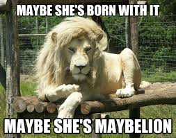 Majestic White Lion memes | quickmeme via Relatably.com