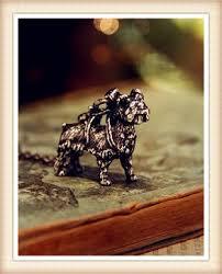 Ретро шнауцер собака ожерелье Панк животное кулон ...