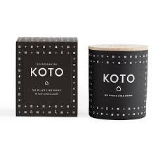 Свеча ароматическая Koto черного цвета с крышкой — купить по ...