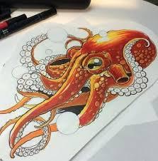 33+ <b>Trendy</b> Ideas For Tattoo Flower Drawing Style | <b>Octopus</b> tattoo ...