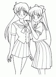 <b>Anime Girl</b> Coloring Pages - Free Coloring Pages