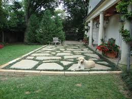 lay flagstone building patio
