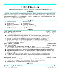public relations executive resume example public relations resume pr resume templates pr resume template