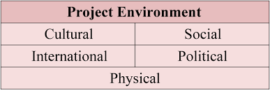 project management areas of expertise the important factors to consider in the project environment