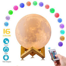 3D Moon Lamp, Remote & Touch Control <b>Hanging</b> Moon Light,<b>16</b> ...