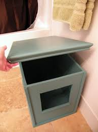 we love it as much as you can love a litter box the best part is the lid comes off and we kevin can clean the litter with ease cat litter box furniture diy