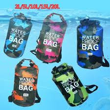 Outdoor <b>Camouflage</b> Portable Rafting Diving Dry Bag Sack PVC ...