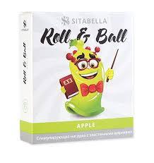 <b>Стимулирующий презерватив</b>-<b>насадка</b> Roll & Ball Apple ...