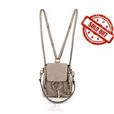 chloe faye <b>mini</b> leather and suede <b>backpack</b>/<b>shoulder</b> bag in motty ...
