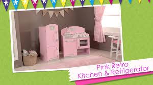 kidkraft kitchen pink vintage kids wooden