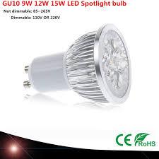 <b>1pcs Super Bright</b> 9 W 12 W 15 W GU10 LED lamp 110 V 220 V ...