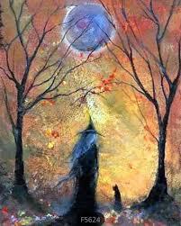 US Seller. 50x40cm <b>Halloween</b> Witch, Fall, Forest. <b>Diamond</b> ...