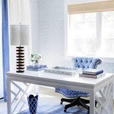 blue home office with bungalow 5 bell desk blue home office