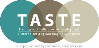taste training and skills towards employment landsker taste logo