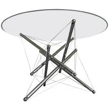 expandable dining table ka ta: dynamic ampquottensegrityampquot  dining table by theodore waddell