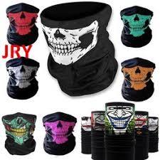 Skull Face Mask Bicycle Ski Skull Ghost Scarf Multi Use Neck ... - Vova